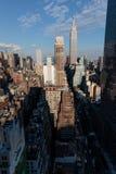 Manhattan linia horyzontu od nowojorczyka hotelu, Manhattan Obraz Royalty Free