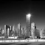 Manhattan linia horyzontu przy wschodem słońca Miasto Nowy Jork Fotografia Royalty Free