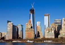Manhattan linia horyzontu w Miasto Nowy Jork zdjęcie royalty free
