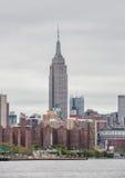 Manhattan linia horyzontu z empire state building Obraz Stock