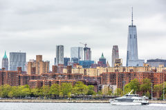 Manhattan linii horyzontu panorama Zdjęcie Stock
