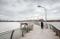 Manhattan linii horyzontu panorama z world trade center Obraz Royalty Free