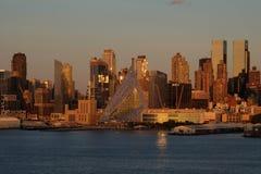 Manhattan linii horyzontu widok Zdjęcia Royalty Free