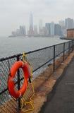 Manhattan linii horyzontu widok w jesieni, NYC Obraz Royalty Free