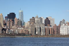 Manhattan, from Long Island, USA Stock Images