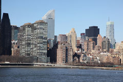 Manhattan from Long Island Stock Image
