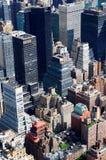 Manhattan-Luftaufnahme stockfotos