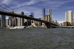 Manhattan and Manhattan Bridge Stock Photo