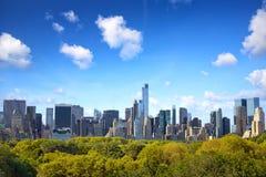 Manhattan med Central Park Fotografering för Bildbyråer