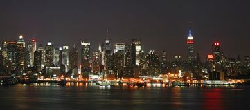 Manhattan Mid-town Skyline Stock Image