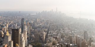 Manhattan midtown and downtown viewe Royalty Free Stock Photos