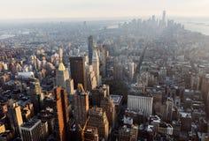 Manhattan midtown och i stadens centrum sikt Royaltyfri Bild