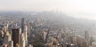 Manhattan midtown och i stadens centrum viewe Royaltyfria Foton