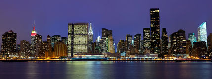 Manhattan midtown panorama Royalty Free Stock Image