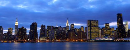 Manhattan midtown panorama Stock Photography