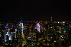 Manhattan, Midtown Seen From the Empire State Building at Night Royalty Free Stock Photography