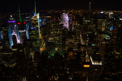 Manhattan, Midtown Seen From the Empire State Building at Night Stock Image