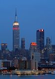 Manhattan-Midtown-Skyline Stockbilder