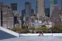 Manhattan Midtown skyline at sunrise New York City Stock Image