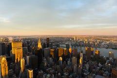 manhattan midtown skyline Stock Photography