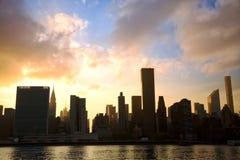 Manhattan Midtown skyline Stock Photos