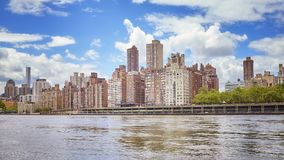 Manhattan Midtown waterfront, New York, USA.  stock photo