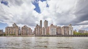 Manhattan Midtown waterfront, New York, USA.  Royalty Free Stock Images