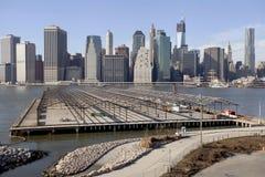 Manhattan midtownhorisont. Royaltyfria Bilder