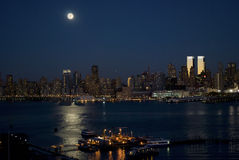 Manhattan Moonlight Stock Photos