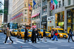 Manhattan Morning Commute Royalty Free Stock Image