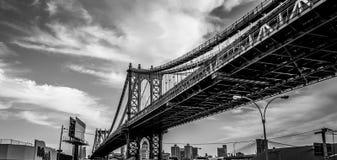 Manhattan most W Czarny I Biały III zdjęcie stock