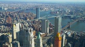 Manhattan most zadziwia widok z lotu ptaka z góry zdjęcie wideo