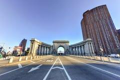 Manhattan mosta łuk - Nowy Jork, usa Zdjęcia Royalty Free