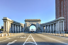 Manhattan mosta łuk - Nowy Jork, usa Obraz Royalty Free