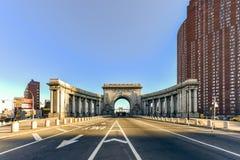 Manhattan mosta łuk - Nowy Jork, usa Fotografia Stock