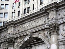 Manhattan Municipal Building. A clearly labeled Manhattan Municipal Building royalty free stock photos