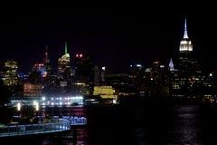 Manhattan-nächtlicher Himmel Lizenzfreies Stockbild