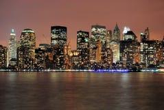 Manhattan nach Stunden Lizenzfreie Stockbilder