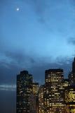 Manhattan nachts Stockbilder