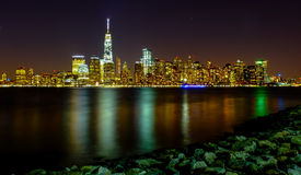 Manhattan-Nachtszene Lizenzfreie Stockfotografie