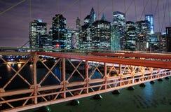Manhattan natt Royaltyfri Foto