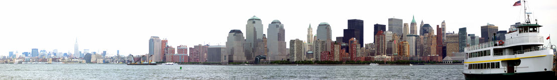 Manhattan New York. Lower Manhattan after 9-11 stock photo
