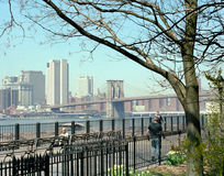 Manhattan New York USA. Brooklyn Heights view of Manhattan stock photos