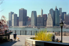 Manhattan, New York USA. View of Manhattan from Brooklyn Heights royalty free stock images