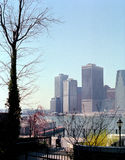 Manhattan, New York USA. Brooklyn Heights view of lower Manhattan royalty free stock photography