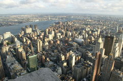 Manhattan in New York. Viewed from Empire State Building Royalty Free Stock Photography