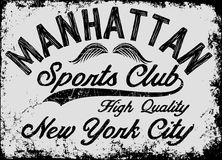 Manhattan New York athletic tee graphic vector Stock Photo