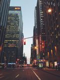 Manhattan New York beautiful always lights on and never sleep Royalty Free Stock Photo