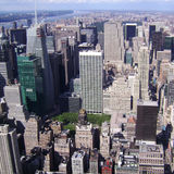 Manhattan, New York city from Empire State building, vintage style, New York City, USA Royalty Free Stock Photo