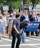 Governor Andrew Cuomo at 55th Annual `Celebrate Israeli` Parade in New York City. Manhattan, New York City, June 2, 2019, 55th Annual `Celebrate Israel` Parade stock images